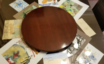 28 inch Lazy Susan on Square Table