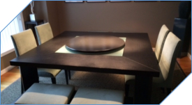36 inch Lazy Susan for 70 inch Square Table