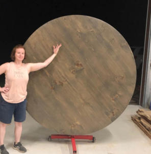 60 Inch Wood Lazy Susan