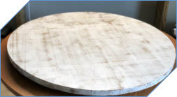 Distressed Painted Wood Lazy Susan