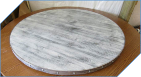 Distressed Wood Lazy Susan