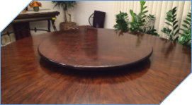 Elegant Wood Lazy Susan