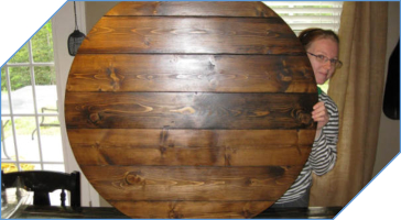 Farmhouse Style Wood Lazy Susan