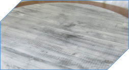 Gray White Distressed Wooden Lazy Susan