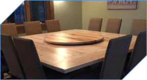 Large Farmhouse Lazy Susan Matching Table