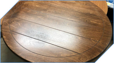Large Lazy Susan to Match Table Plank Lines