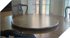Large Low Profile Lazy Susan for Table