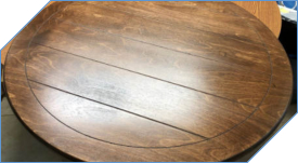 Lazy Susan with Plank Lines