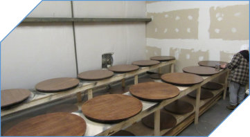 Walnut Wood Lazy Susan To Match Table Lines