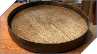 Wood Lazy Susan with Lipped Edge