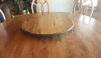 early American wood lazy susan